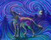 Spirit Wolf - Primal Energy Totem Painting - Giclee Print