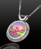 Pink Lotus Magical Energy Pendant - From The Magical Chi Collection *