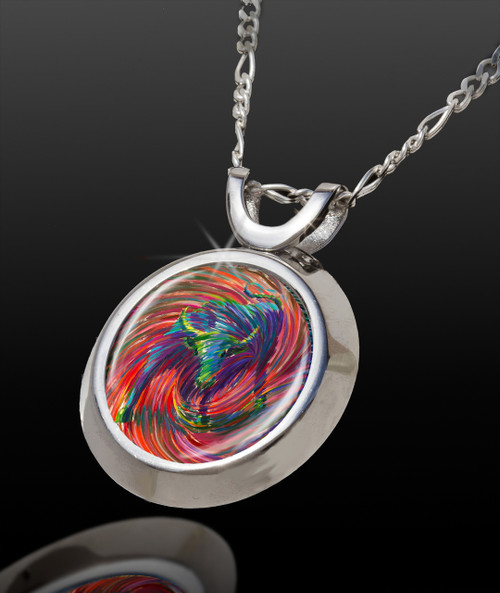 Mystic Bull Magical Energy Pendant - From The Magical Chi Collection *