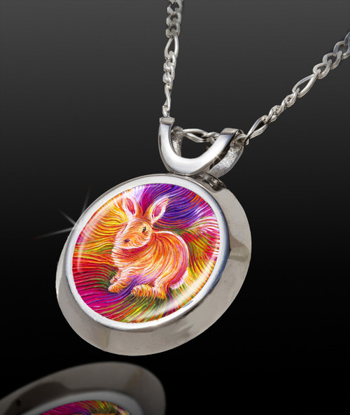 Bunny Love Magical Energy Pendant - From The Magical Chi Collection *