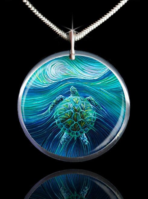 Turtle Spirit Energy Pendant
