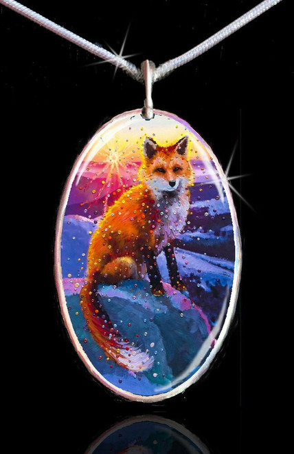 Winter Fox Energy Pendant