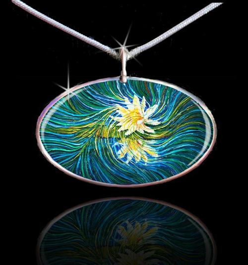 White Liliy Divine Light Energy Pendant