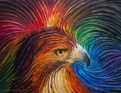 Spirit Hawk Energy Painting - Giclee Print