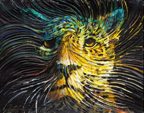 Jaguar Spirit Energy Painting - Giclee Print