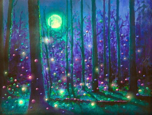 Fairy Forest Magical Energy Painting - Giclee Print