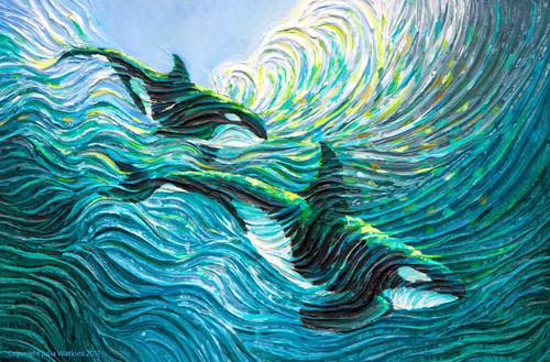 Orca Healing Energy Painting - Giclee Print