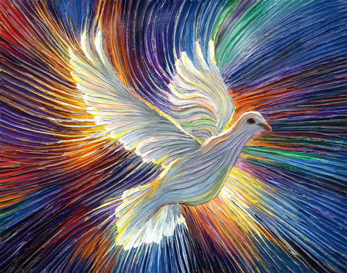 The Dove Of Hope Energy Painting - Giclee Print