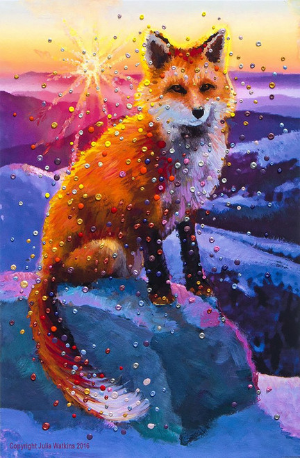 Winter Fox Energy Painting - Giclee Print