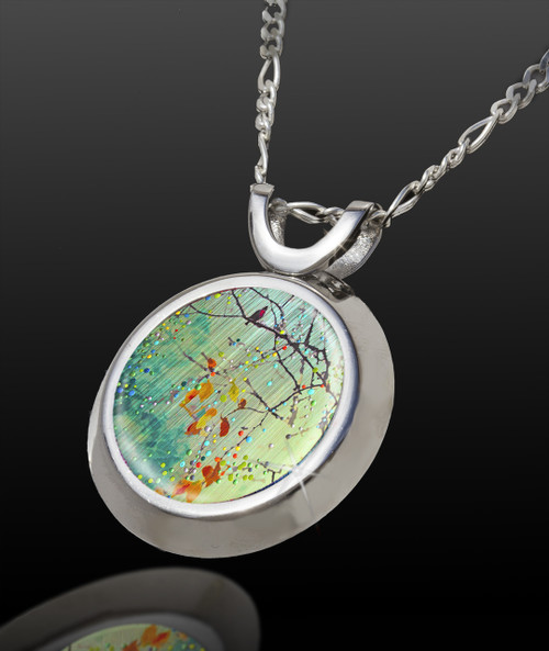Birdsong - Green Morning Mist - Energy Pendant - Magical Chi Collection