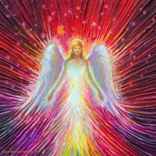 The Angel Of New Hope Energy Painting - Giclee Print