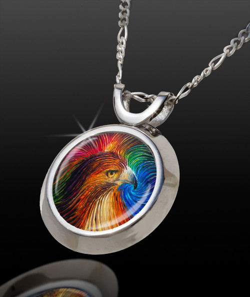 Spirit Hawk Energy Pendant - From the Magic Chi collection