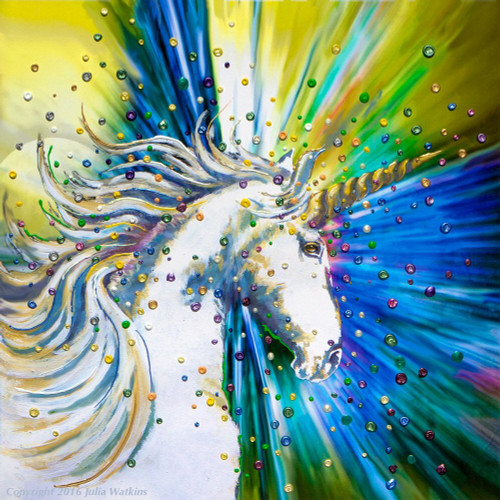 Unicorn Magic Energy Painting - Giclee Print