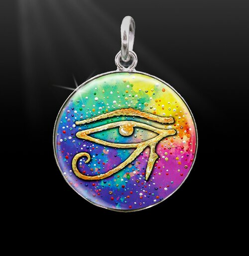 Eye Of Horus Spiritual Protection Silver Energy Charm