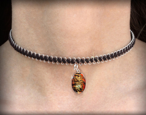 Winter Solstice Blessing Energy Charm Necklace - Choker