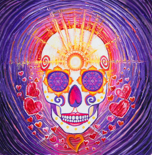 Day Of The Dead Enlightenment Energy Painting - Giclee Print