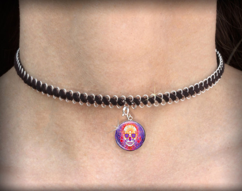 Day Of The Dead Enlightenment - Energy Charm Necklace - Choker