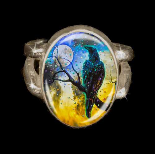 Raven's Moon  Energy Ring