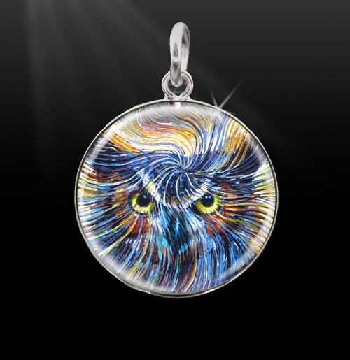 Owl Spirit Silver Energy Charm
