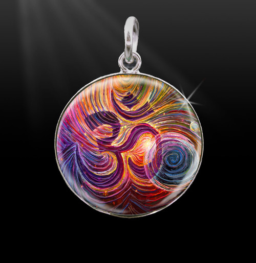 Sacred Om Silver Energy Charm