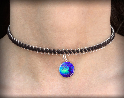 The Firefly Tree - Energy Charm Necklace - Choker