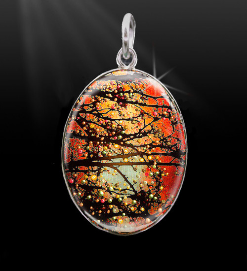 Winter Solstice Blessing  Silver Energy Charm