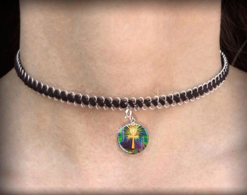 Sacred Ankh Energy Charm Necklace - Choker