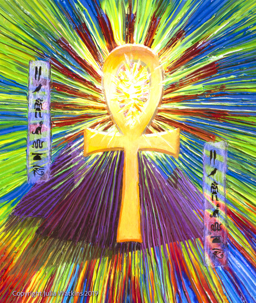 Sacred Ankh Life-Force Energy Painting -  Giclee Print