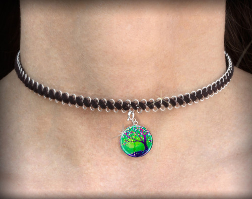 Tree Of Joy And Happiness Energy Charm Necklace - Choker