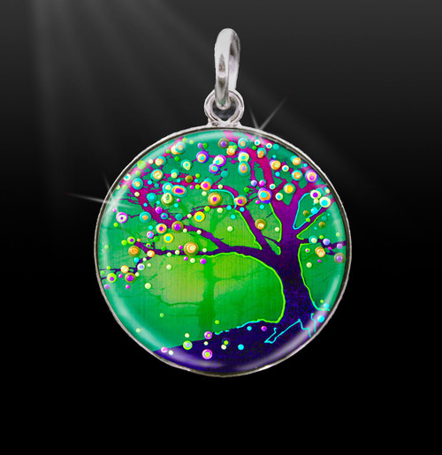 Tree Of Joy And Happiness Silver Energy Charm
