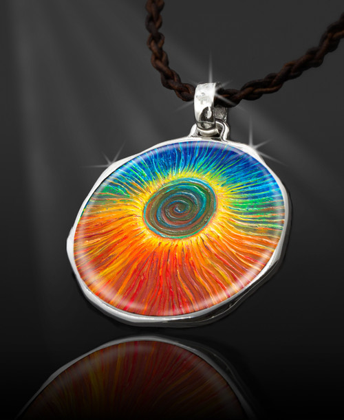 """The Eclipse """"Spiritual Jump Start""""  Energy Pendant  From the """"New Bohemian"""" Collection"""