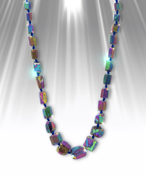 """Rainbow Joy Aura"" Quartz Crystal Necklace - Makes you happy. Heals conflicts."