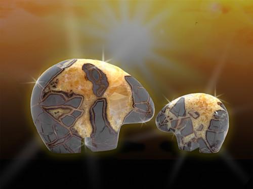 Golden Bear Healing Totem Sculpture