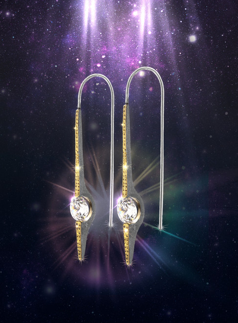 """White Topaz """"Soul Star"""" Chakra Energy Earrings --   Activate your soul star chakra, attuning you to higher planes of existence."""