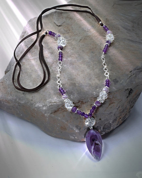 """The """"Answers From Spirit"""" Divination Necklace & Pendulum. Gives you the answers you need. AAA quality amethyst."""