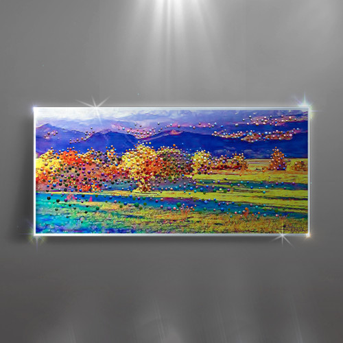 """Fields Of The Lord - Original energy painting. 48"""" x 22"""" inches."""