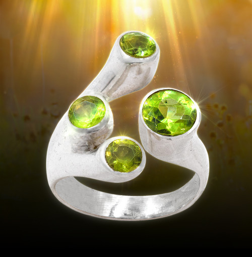 Stone Of Ra - Peridot Ring Of Vitality. Magic from ancient Egypt.