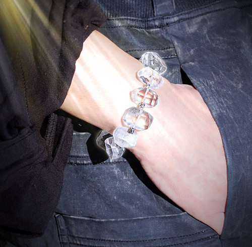 The Crystal Lady Sparkling Quartz Energy Bracelet