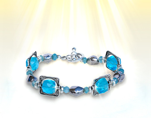 Mindfulness Power Focus Energy Bracelet - Blue Apatite & Quartz