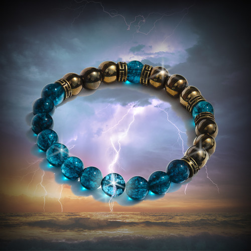 The Blue Lightning Energy Channeling Bracelet - Connect to the power of the elements.