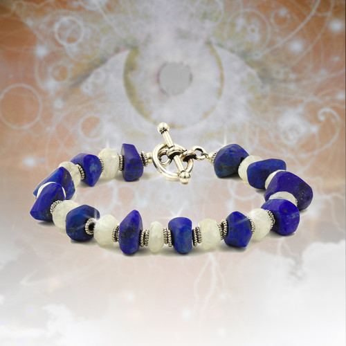 Lapis Visionary Seer's Energy Bracelet - Sacred stones of the Pharaohs