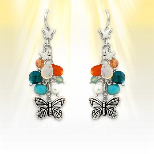 Forever Summer Butterfly Charm Earrings