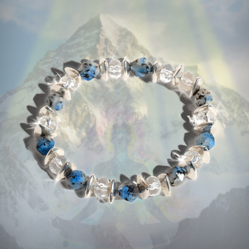 The K2 Power Meditation Bracelet - Facilitates the optimal awakened but grounded spiritual state.  Guaranteed authentic K2