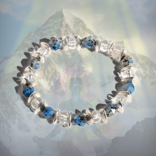 The K2 Power Meditation Bracelet - Facilitates the optimal awakened but grounded spiritual state.  Guaranteed authentic K2