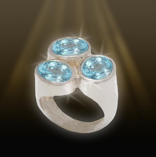 The Soul Sister Ring - Spiritual relationship building blue topaz