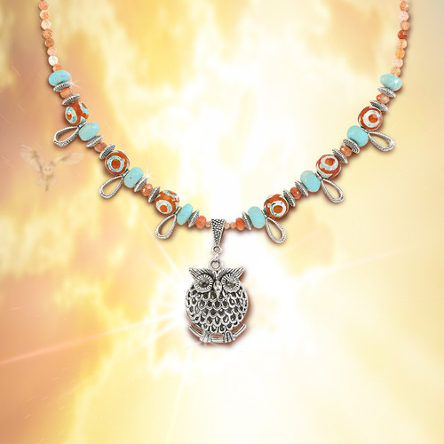 """The """"See The Future"""" Owl Spirit Necklace - A """"must have"""" talisman for navigating uncertain times."""
