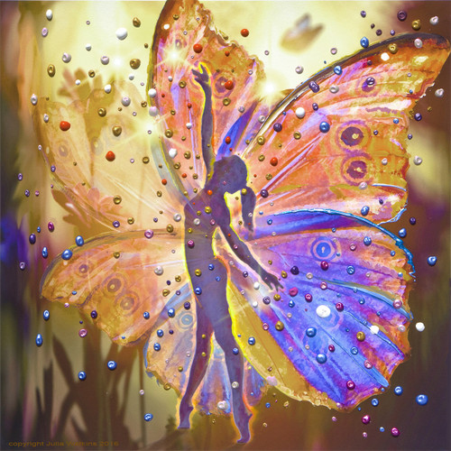 The Wishing Fairy Energy Painting - Gicleee Print