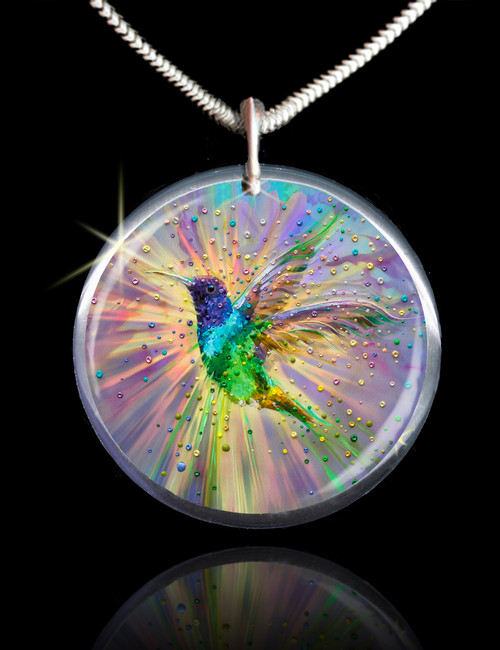 Hummingbird Magic Energy Pendant