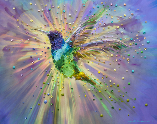 Hummingbird Magic Energy Painting - Giclee Print