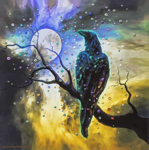 Raven's Moon Energy Painting - Giclee Print